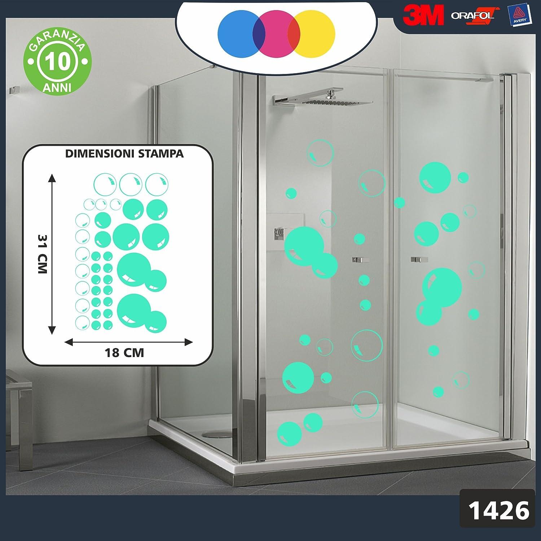 Pegatinas para la ducha, con diseño de burbujas de jabón. Cód. 1426 (verde agua): Amazon.es: Coche y moto