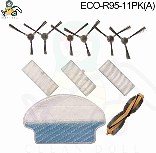 For Ecovacs Deebot DEEBOT R95 R96 R97 Vacuum Main//side Brushes Replacement Kit