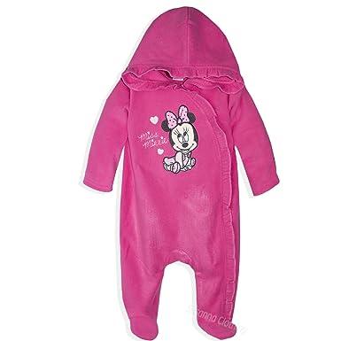 150ad301be12 Disney Baby Minnie Mouse Baby Girls Polar Fleece Onesie All in One ...