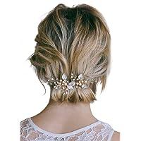 Missgrace 3 pcs Bridal Crystal Hair Pins Flower Crystal Wedding Hair Clips Women Hair Accessories
