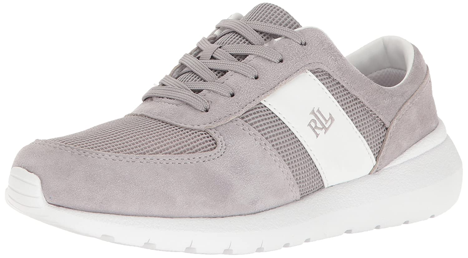 Lauren Ralph Lauren Women's Jay B01HLO25CI 6 B(M) US|Charcoal Grey/White