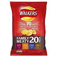 Walkers Meaty Multipack Crisps, 20 x 25 g