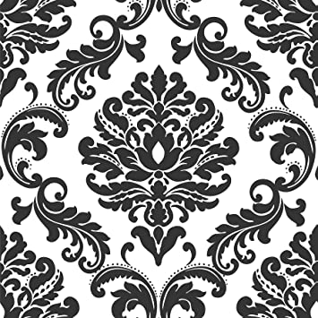 Nuwallpaper Nu1646 Ariel Wallpaper Black Wallpaper Borders Amazon Com