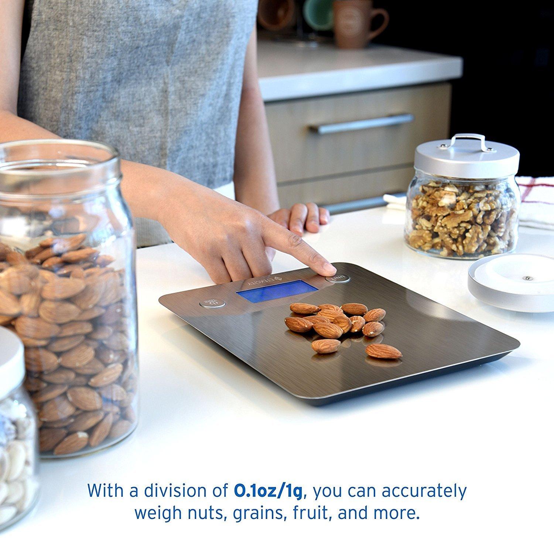Etekcity EK6211 Digital Kitchen Multifunction Food Scale with Large Platform 11lb 5kg, Batteries Included (Stainless Steel) by Etekcity (Image #6)