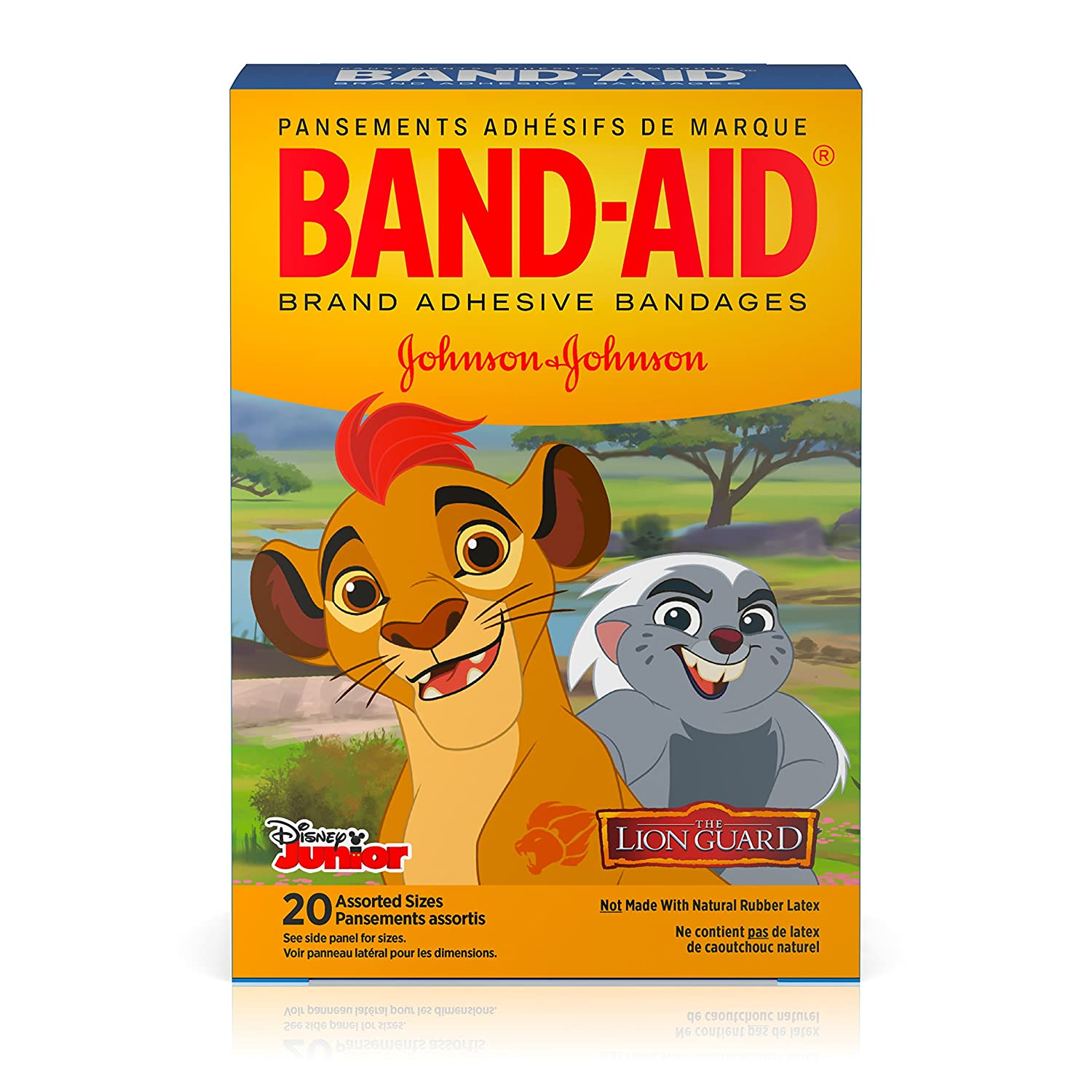 Band Aid Brand Adhesive Bandages, Disney Junior The Lion Guard Characters, Assorted Sizes, 20 Ct by Band Aid