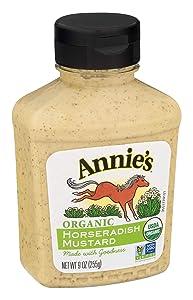 Annie's Horseradish Mustard, Certified Organic, Gluten Free, Non-GMO, 9 oz