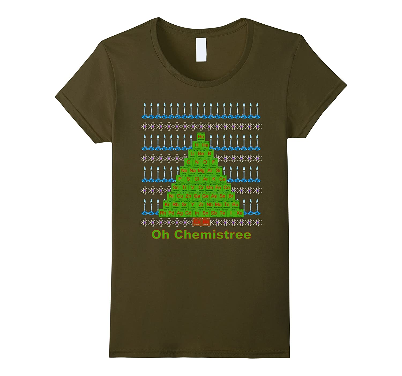 Chemistree Christmas Tree T-Shirt Ugly Tacky Chemistry Shirt