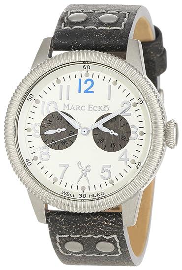 Marc Ecko Reloj Análogo clásico para Hombre de Cuarzo con Correa en Cuero E13513G1: Amazon.es: Relojes
