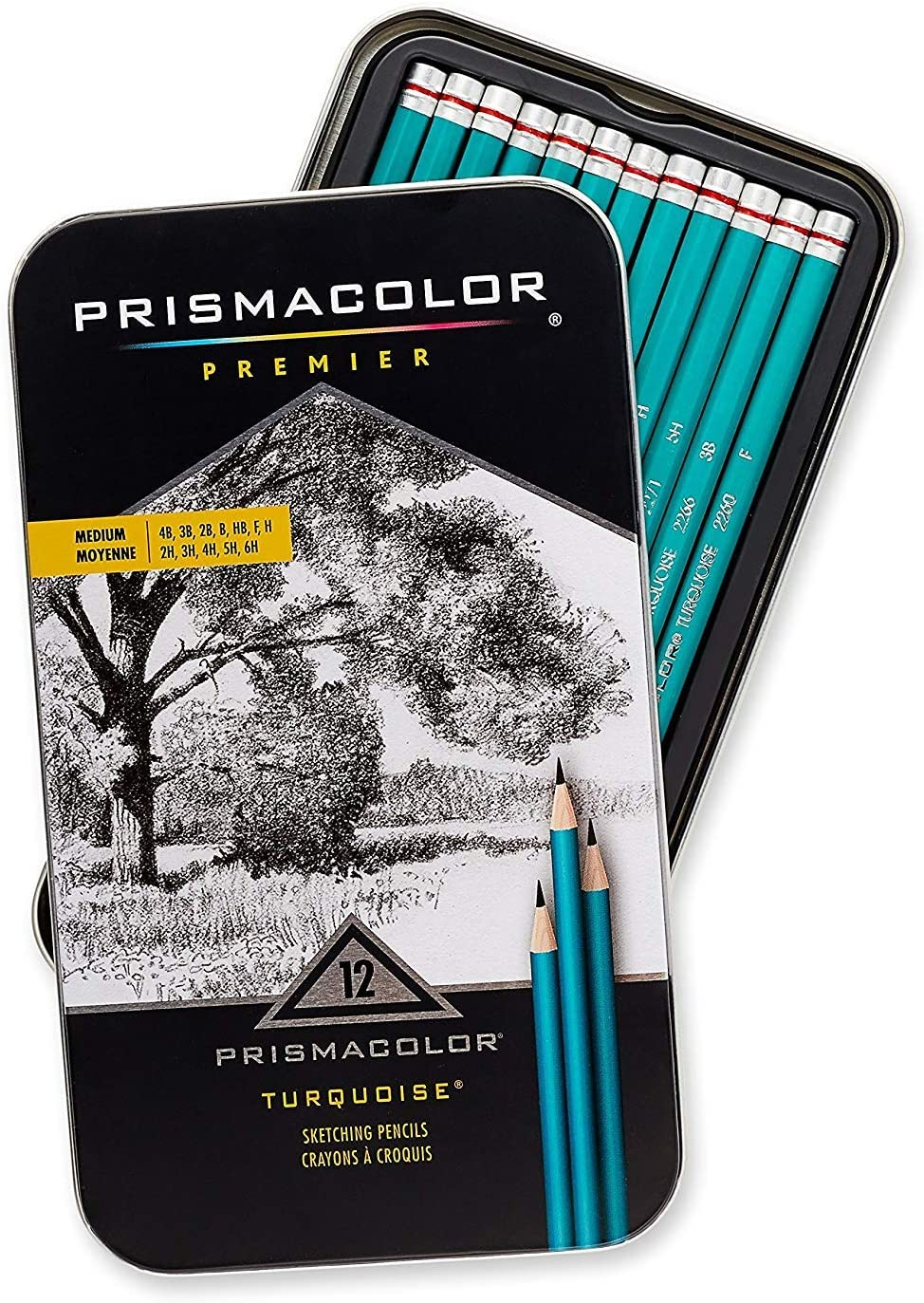 2B Prismacolor Premier Turquoise Graphite Drawing Pencil