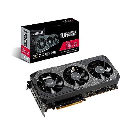 ASUS TUF Gaming X3 Radeon RX 5700 XT OC Edition 8GB GDDR6 - Tarjeta gráfica (Resistencia IP5X, diseño de 2,7 Ranuras, Auto-Extreme, compatibilidad TUF ...