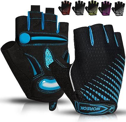 Breathable Half Finger Bike Gloves Anti Skid Gel Padded Sports Cycling Gloves US