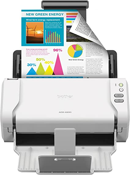 Brother High Speed Desktop Document Scanner Ads 2200 Multiple Scan Destinations Duplex Scanning