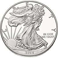 2014 - American Silver Eagle .999 Fine Silver with Our Certificate of Authenticity Dollar Uncirculated US Mint