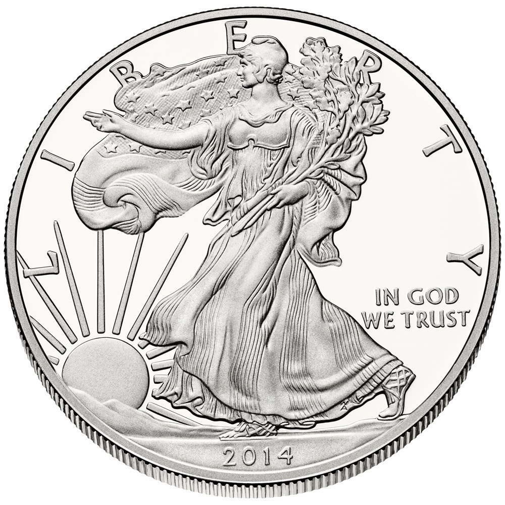 2014 - 1 Ounce American Silver Eagle .999 Fine Silver Dollar US Mint Uncirculated
