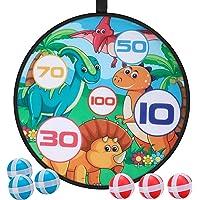 E-More Juego de Tablero de Dardos, Juego para niños Dart Board con 6 Bolas, Disco de Juego de Lanzamiento de Dardos para…