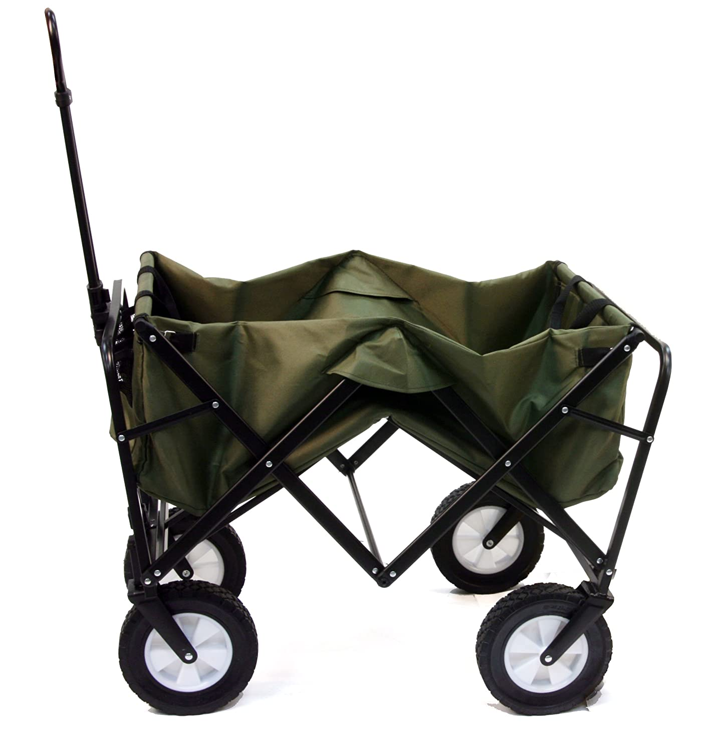Amazon.com : Mac Sports Collapsible Folding Outdoor Utility Wagon, Green :  Garden U0026 Outdoor