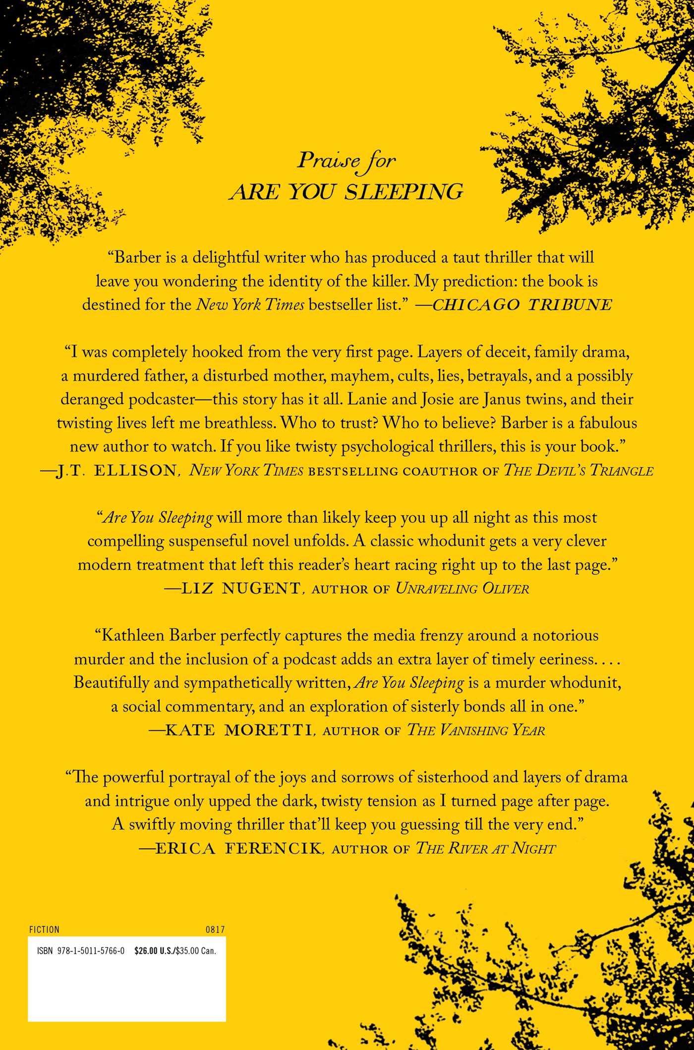Amazon are you sleeping a novel 9781501157660 kathleen amazon are you sleeping a novel 9781501157660 kathleen barber books fandeluxe Gallery
