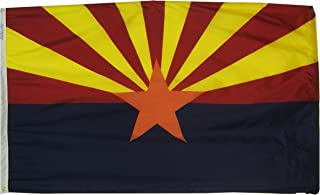 product image for Annin Flagmakers Model 140260 Arizona State Flag 3x5 ft. Nylon SolarGuard Nyl-Glo 100% Made in USA to Official State Design Specifications.