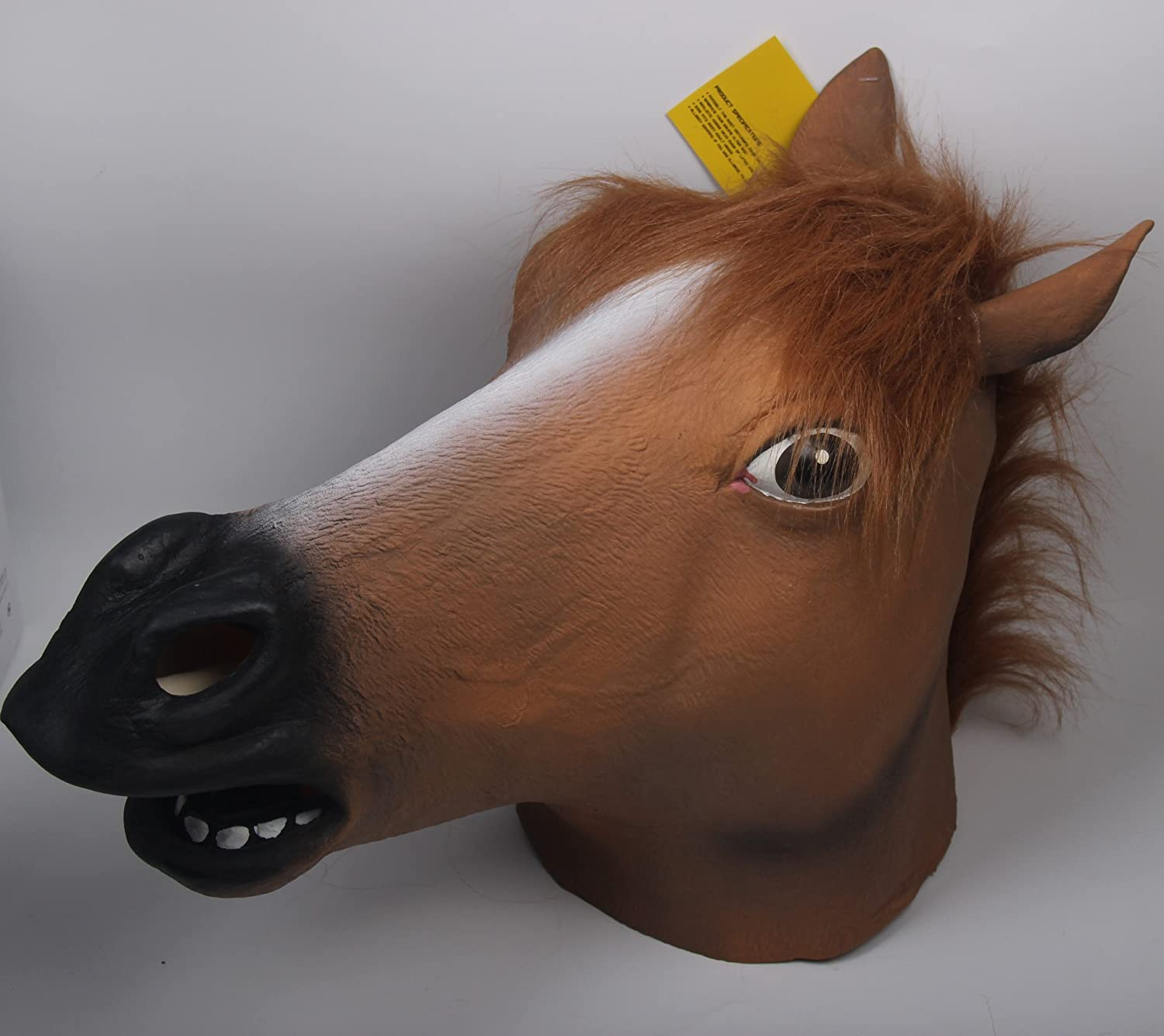 Amazon.com: Signstek Horror Horse Head Mask Scary Halloween ...