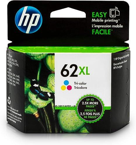 Amazon.com: Cartucho de tinta HP 62XL, tricolor, alto ...