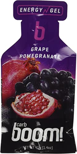 Carb Boom Energy Gel Grape Pomegranate – 24 pack