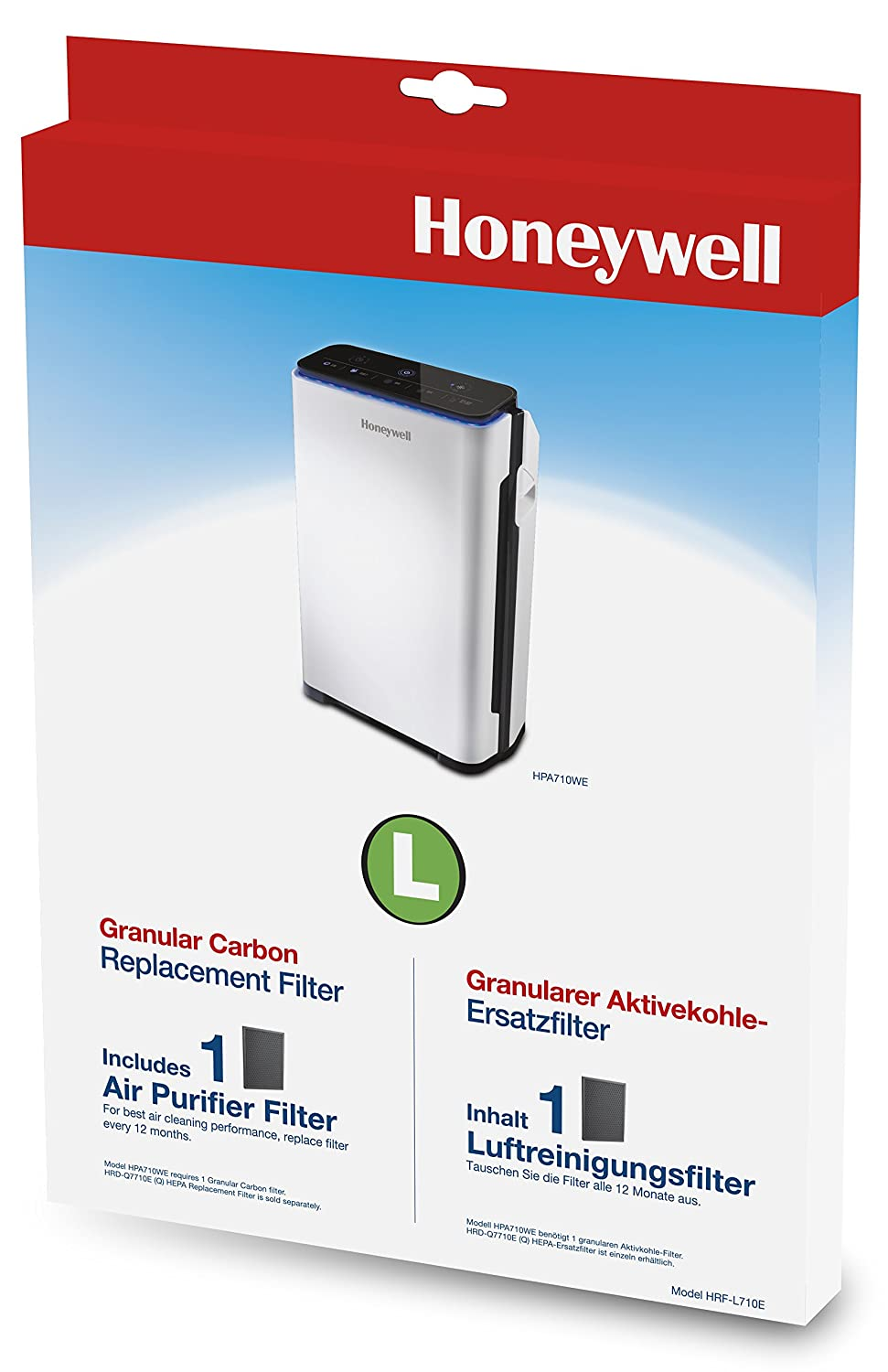 Honeywell HRF-L710E Carbon Filter Compatible with HPA710WE Air Purifier Helen of Troy