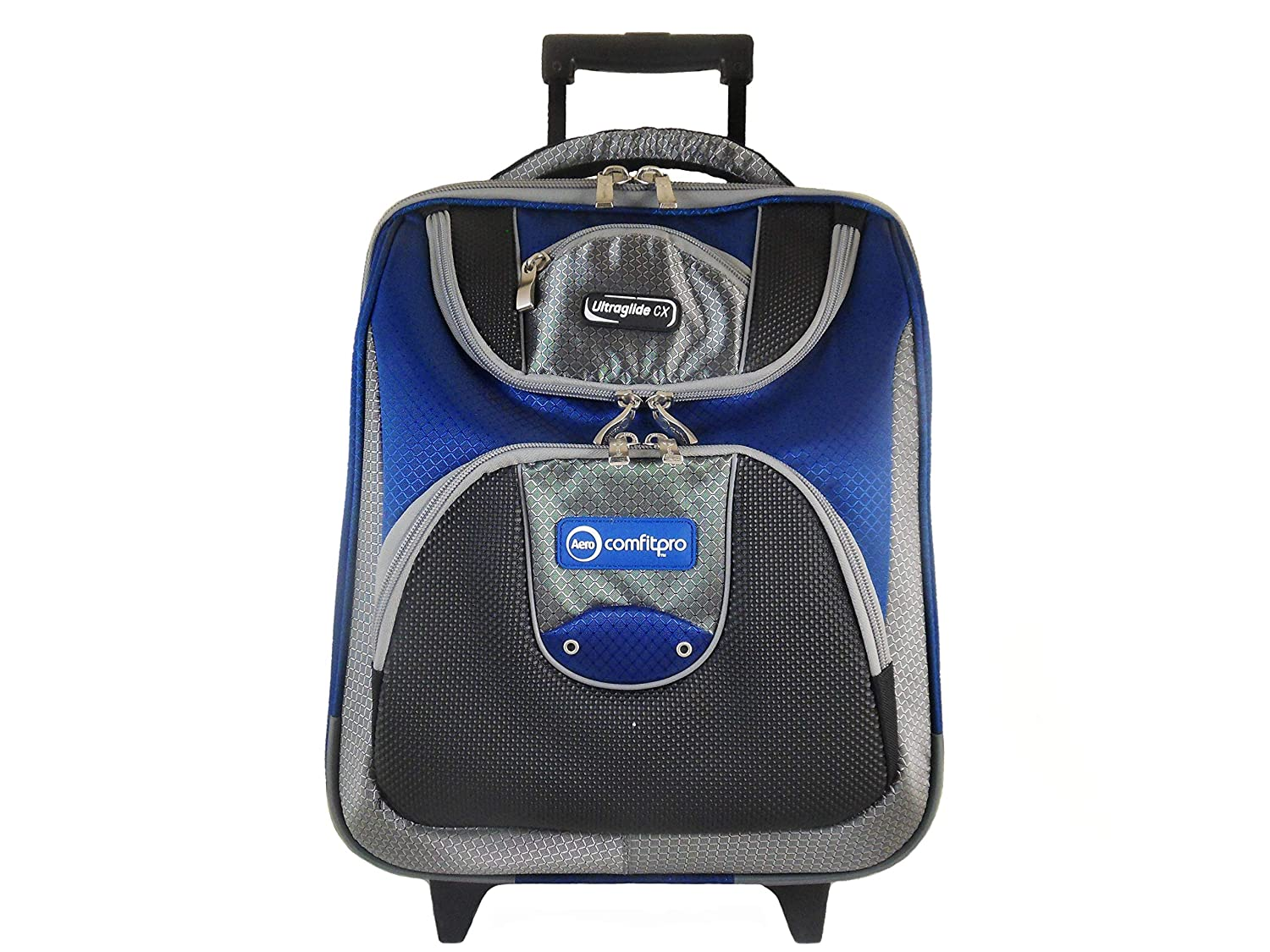 Aero ComfitPro CX Lawn Bowling Trolley Bag Blue/Black