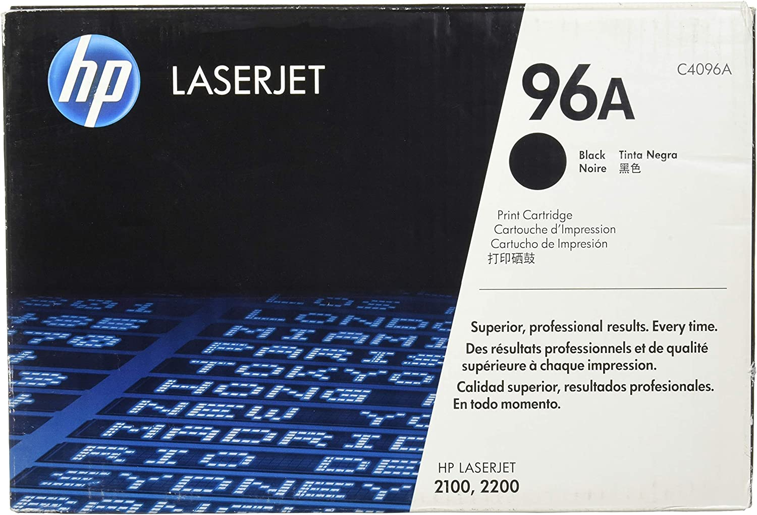 Amazon.com: HP 96 A (C4096 A) Black Original LaserJet Toner ...