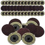 50 PC by IIT IIT 82039 80 Grit 2 Roll Lock Sanding Discs