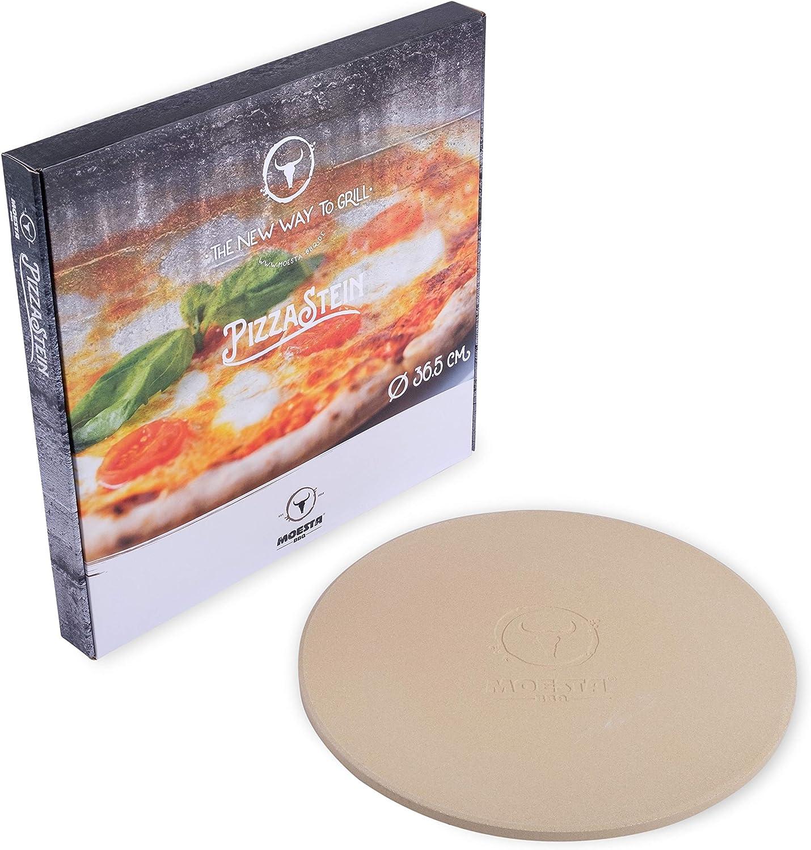 Moesta-BBQ Piedra para hornear pizzas, no. 1, redonda, 36,5 o 41 cm de diámetro -, 36,5 cm