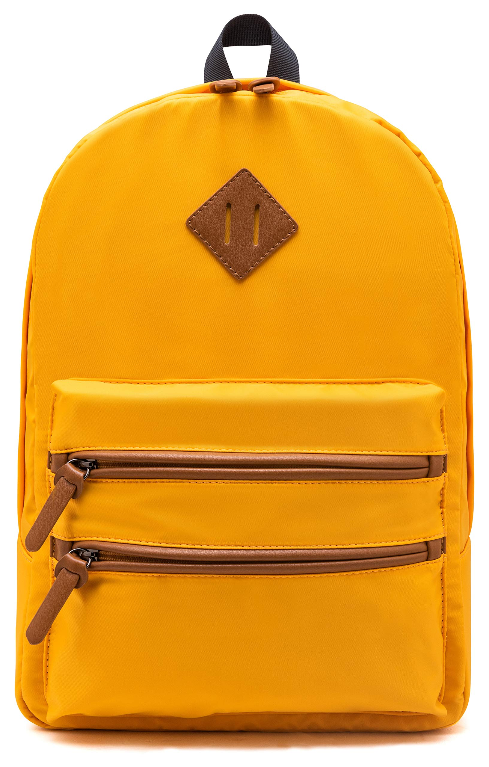Gysan Lightweight Water Resistant College Backpack Book Bags Travel Rucksack Fit 15 Inch, Golden Yellow by Gysan