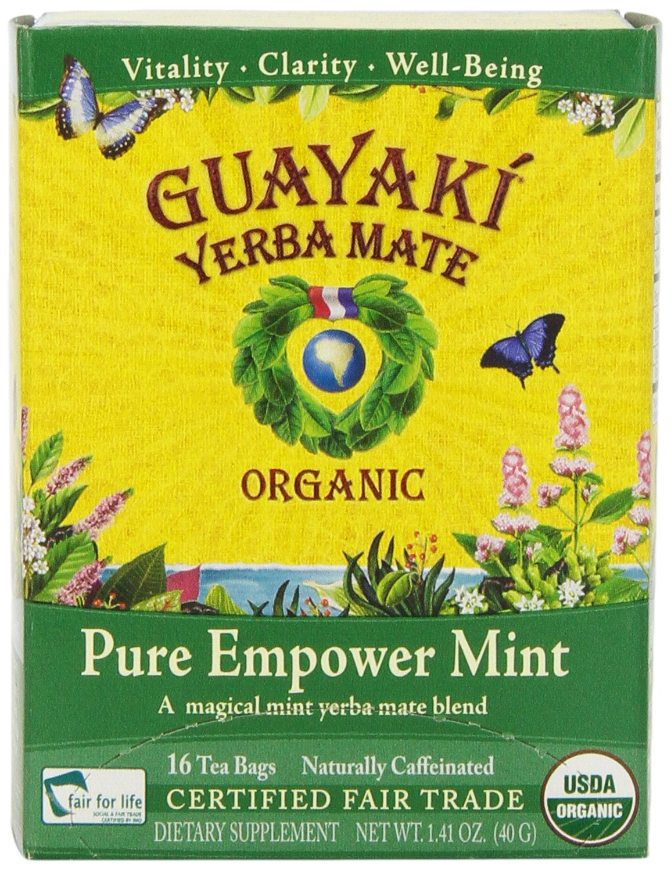Amazon.com : Guayaki Pure Empower Mint Mate Tea Blend, Tea ...