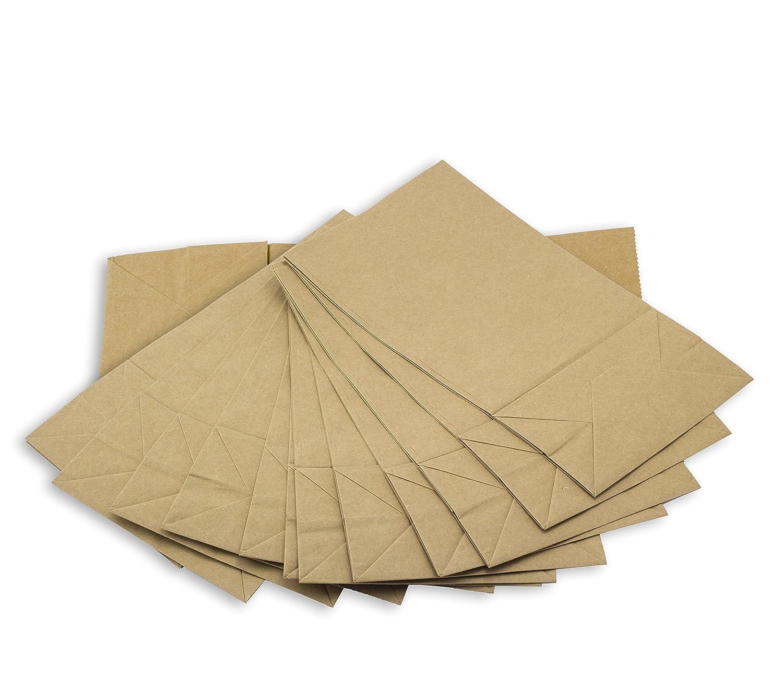 50 kraft sacchetti di carta con fondo bianco nero 14 x 26 x 8 cm 100 adesivi autoadesivi cuore nero bustine per regalo bomboniere confetti buste piccoli natalizi alimenti kreative bambini compleanno