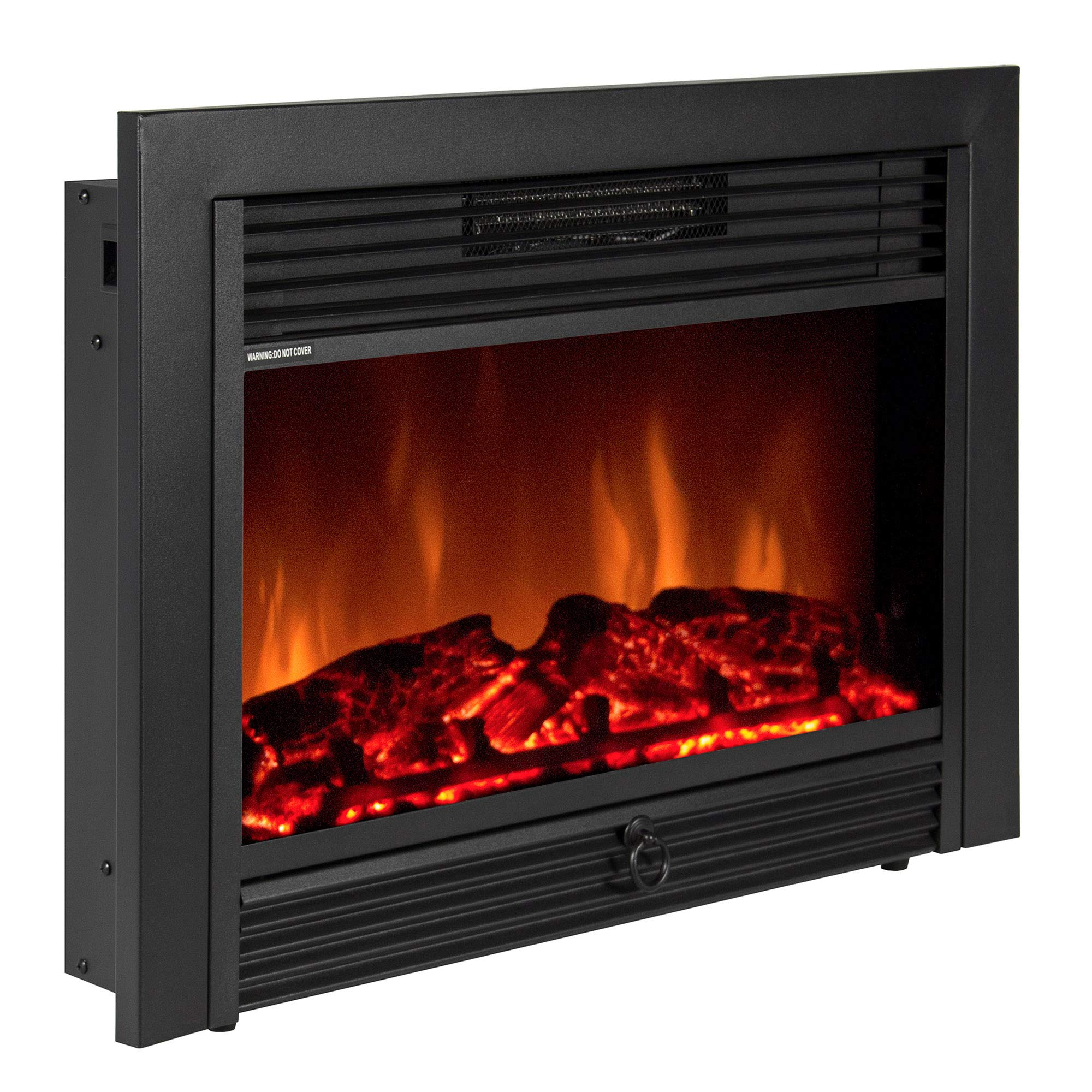 Best Choice Products VD-51075WH Embedded Fireplace Electric Insert Heater Glass View Log Flame Remote Home, 28.5'' by Best Choice Products