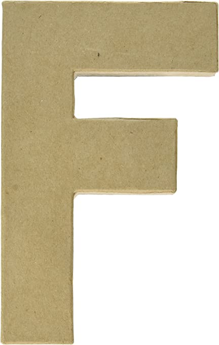 Darice 2861-F Paper Mache Letter 12Inx1.5In