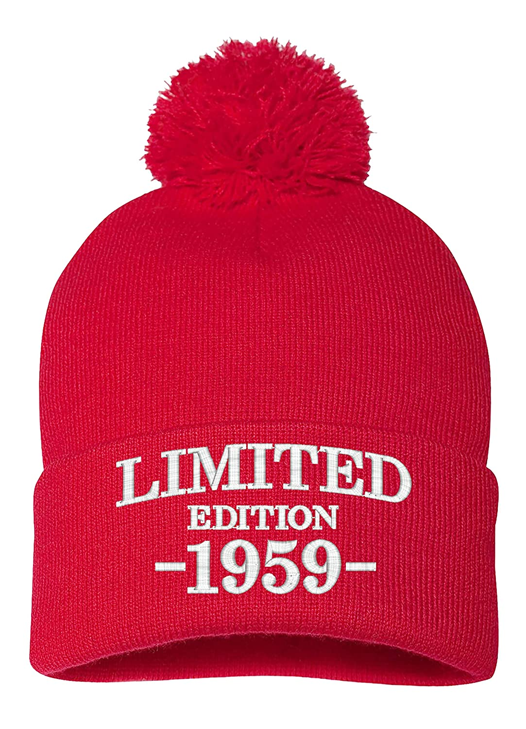 PP BNE 1959 60th Birthday Gifts Limited Edition All Original Parts Warm Pom Beanie Hat EM 0003 Black At Amazon Mens Clothing Store