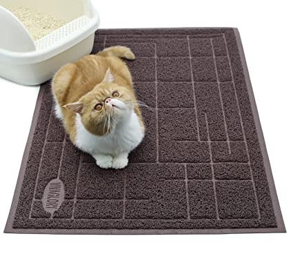 Vivaglory Cat Litter Mat Bpa Phthalate Free Extra Large 35 23 Litter Box Mat Best Scatter Control Soft On Paws Easy To Clean