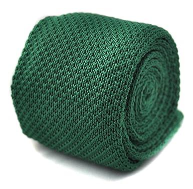 Corbata de Frederick Thomas, color verde, de punto estrecho ...