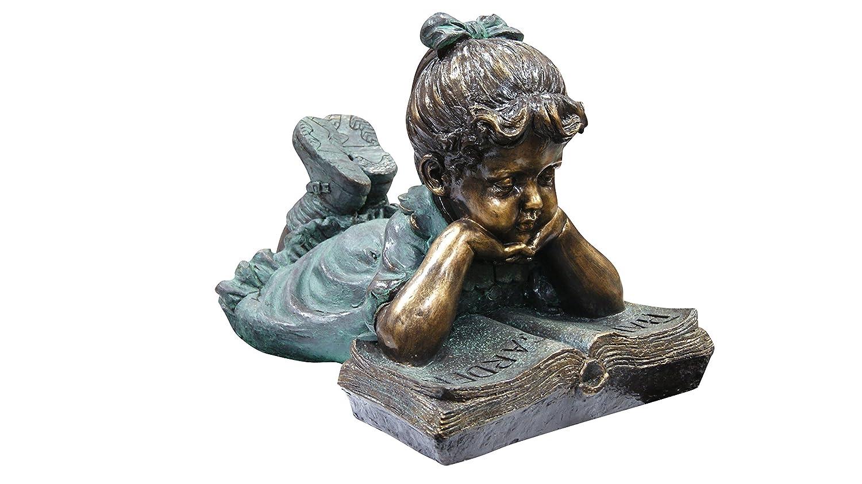 Benzara Boy Sitting Down Reading Book Statue