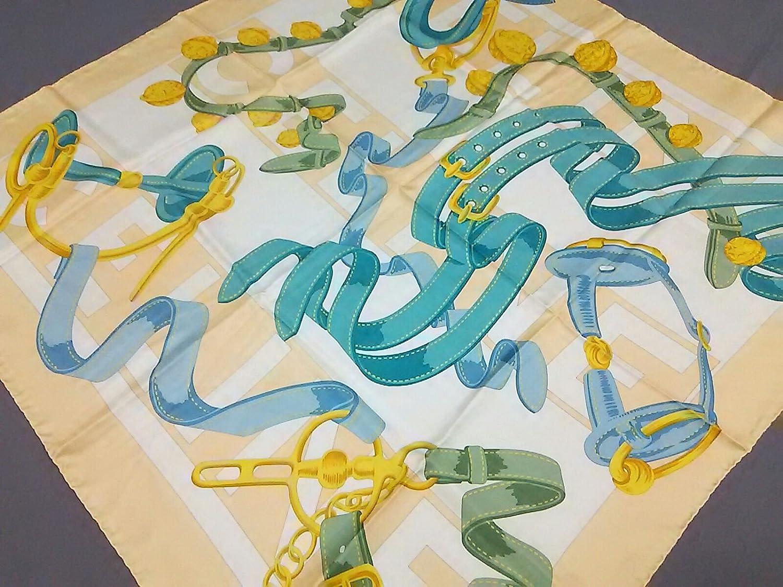 (セリーヌ) CELINE スカーフ ベージュ×白×マルチ 【中古】 B07DL2J6R4  -