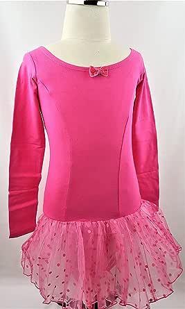 ballet dress for girls dark pink color