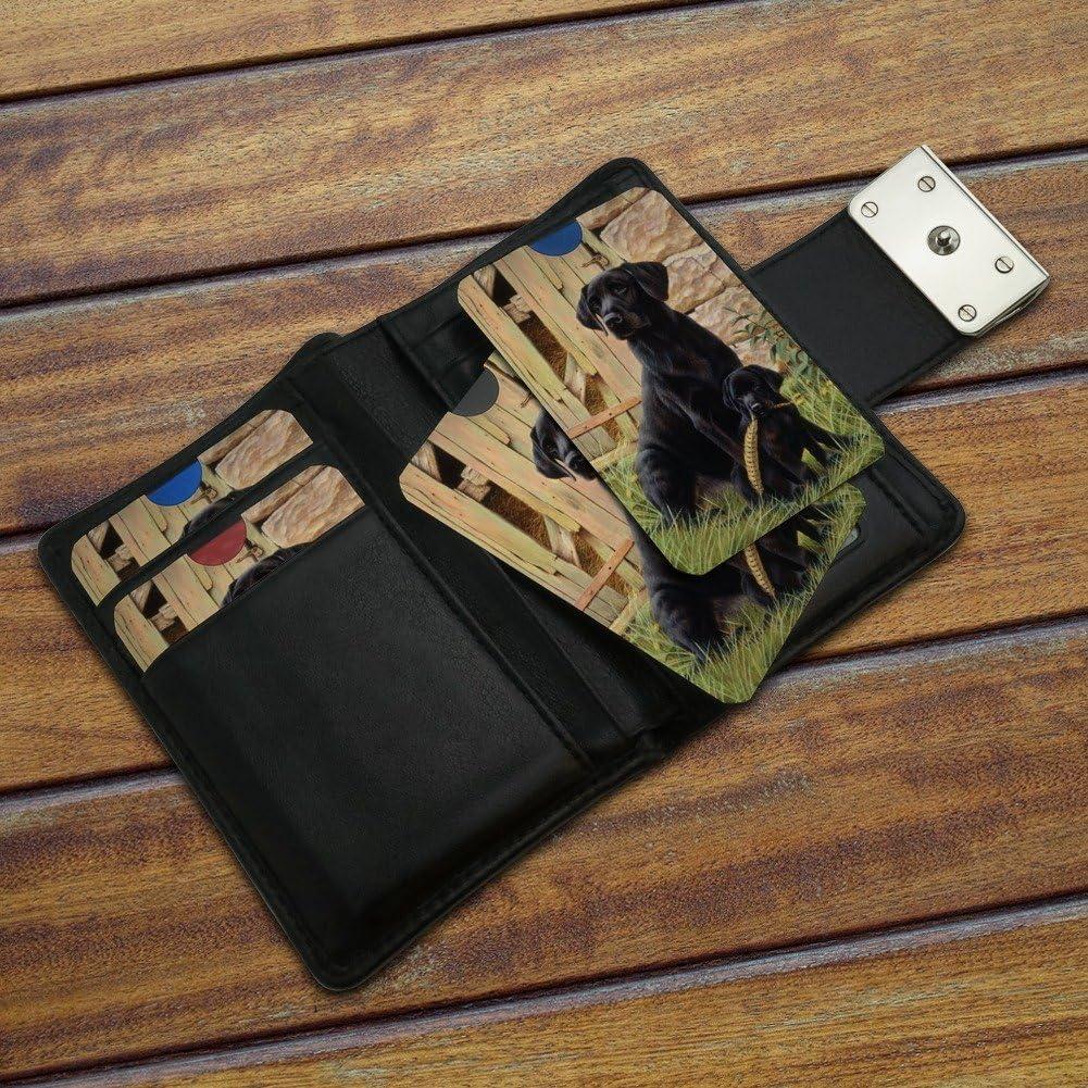 Black Labrador Retriever Dog Puppy Credit Card RFID Blocker Holder Protector Wallet Purse Sleeves Set of 4