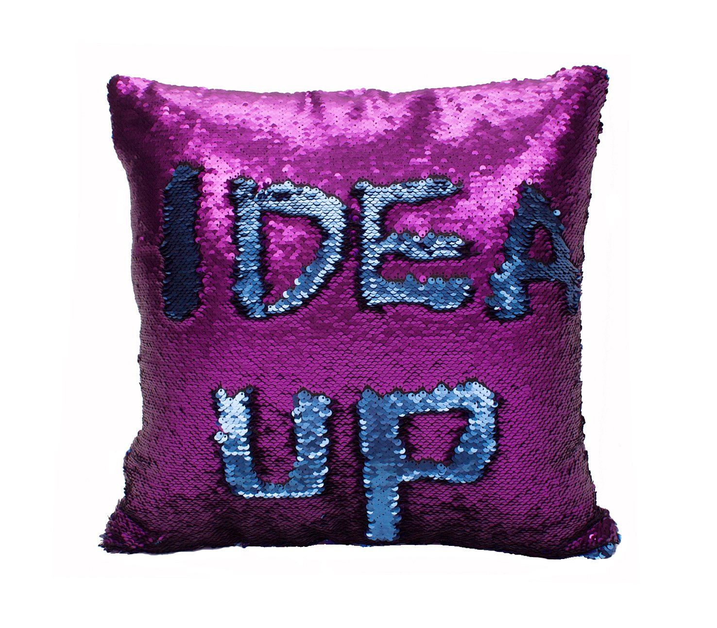 amazoncom idea up reversible sequins mermaid pillow cases cm  - amazoncom idea up reversible sequins mermaid pillow cases cm withmagic mermaid sequin (purple and blue) home  kitchen