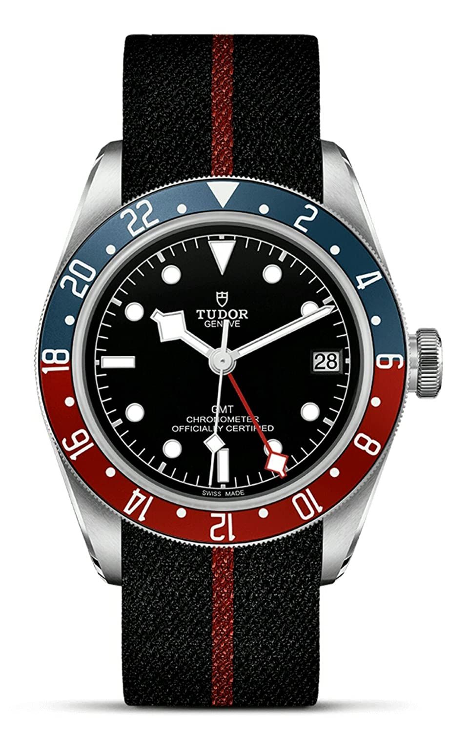 Mens Tudor Black Bay GMT Red Blue Pepsi M79830RB-0003 Watch