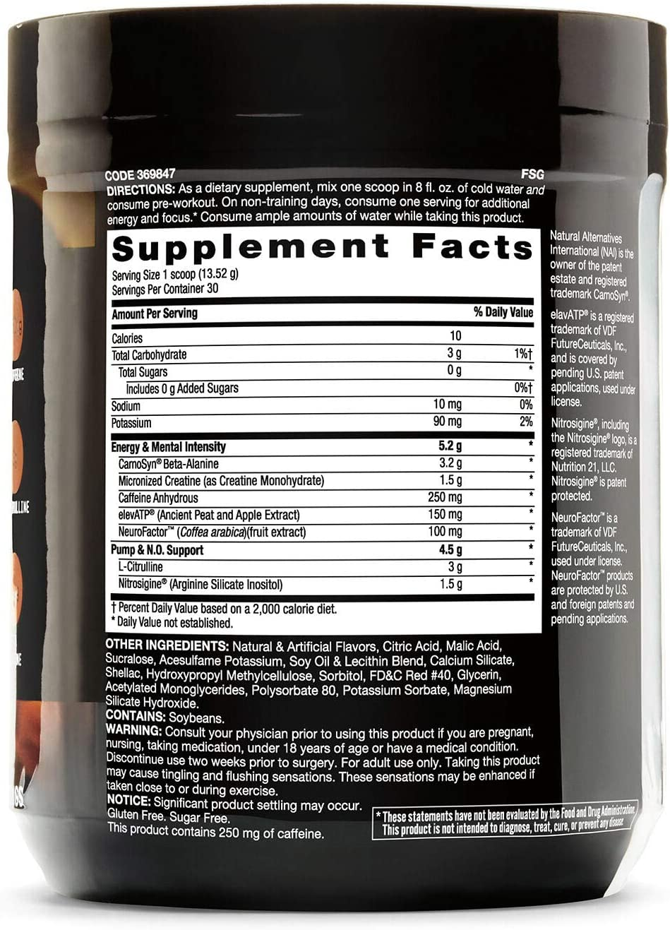 Beyond Raw LIT Pre Workout Powder Energy Drink Cotton Candy 30 Servings Contains Caffeine, L-Citruline, and Beta-Alanine Nitric Oxide and Preworkout Supplement