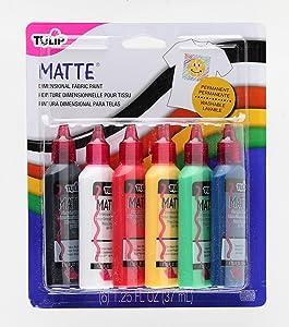 Tulip Dimensional Matte Fabric Paint, 6-Pack