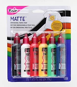 Tulip Matte - Pintura 3D para tejidos (6 unidades)