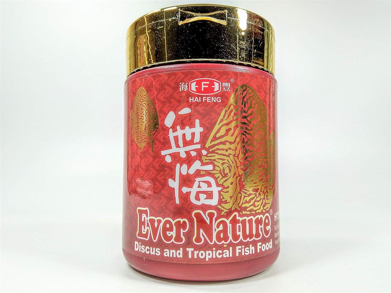 Hai Feng Ever Nature Discus and Tropical Fish Food N.W.90g (3.17oz) Medium Granules Half-Floating