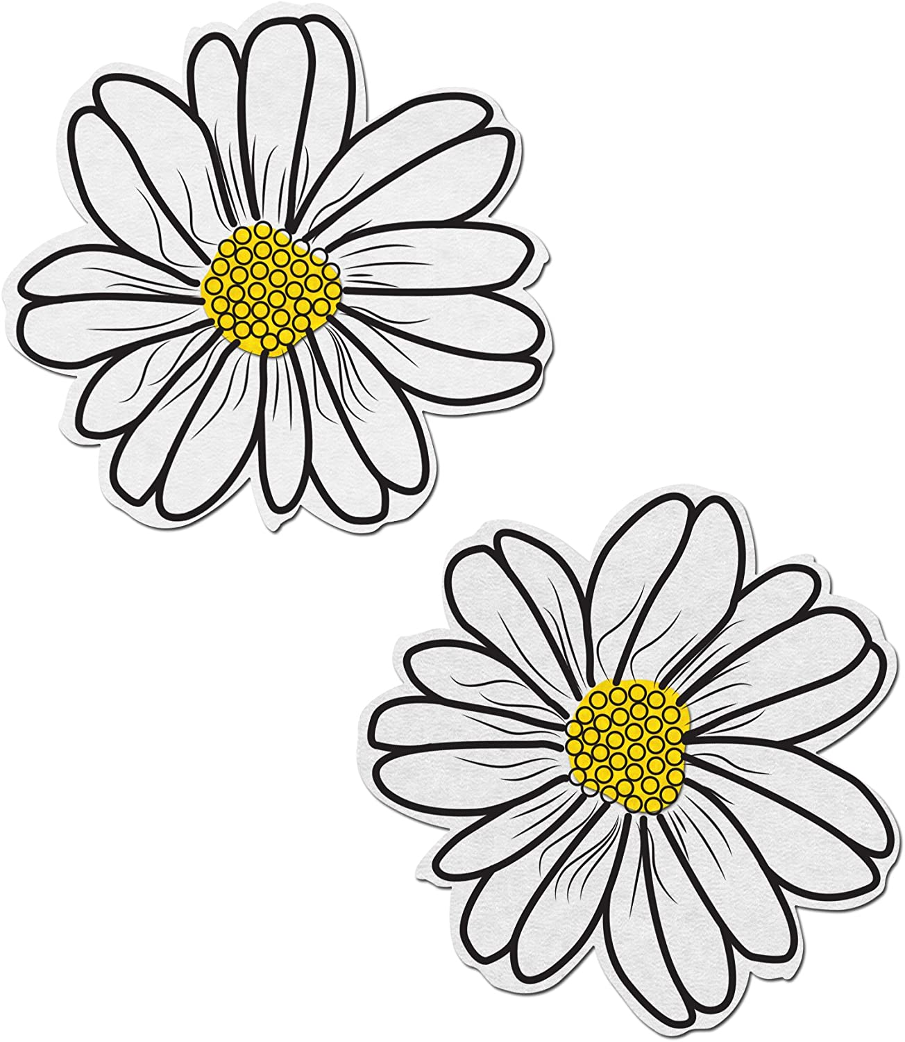 Pasties Wildflower Yellow and Black with Black Flower Nipple Pasties by Pastease\u00ae os
