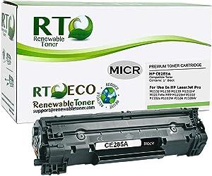 Renewable Toner Compatible MICR Toner Cartridge Replacement for HP 85A CE285A Laserjet Pro M1212, M1217, P1102…